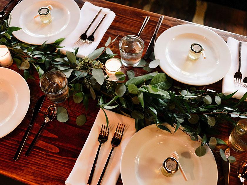 decoración mesa boda boho
